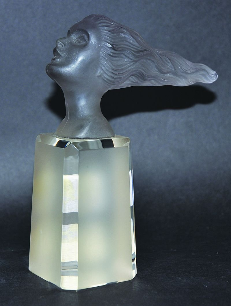"""HEINRICH HOFFMAN (1930's). A FROSTED GLASS MODEL """"THE"""