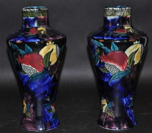 A Pair Of Rubens Ware Pomegranate Vases By S Hancock