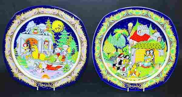 BJORN WIINBLAD (DANISH). ROSENTHAL CHRISTMAS PLATES,