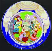 BJORN WIINBLAD (DANISH). A ROSENTHAL PLATE, in