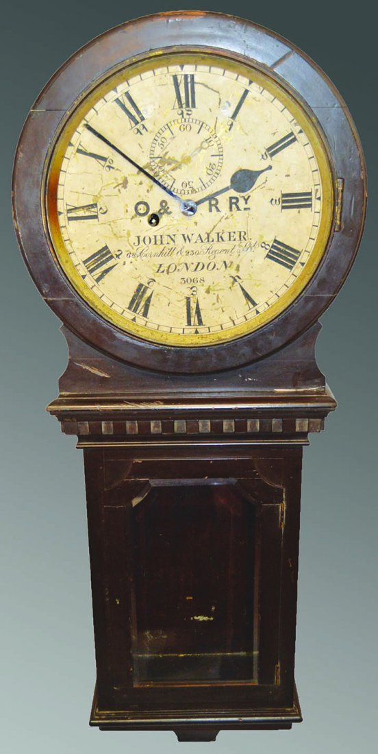 Unusual 19th century railway wall clock with 8 day an unusual 19th century railway wall clock with 8 day amipublicfo Gallery