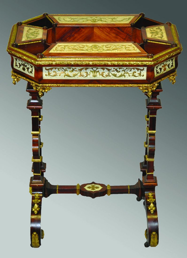 A SUPERB 19TH CENTURY CONTINENTAL BOULLE AND IVORY