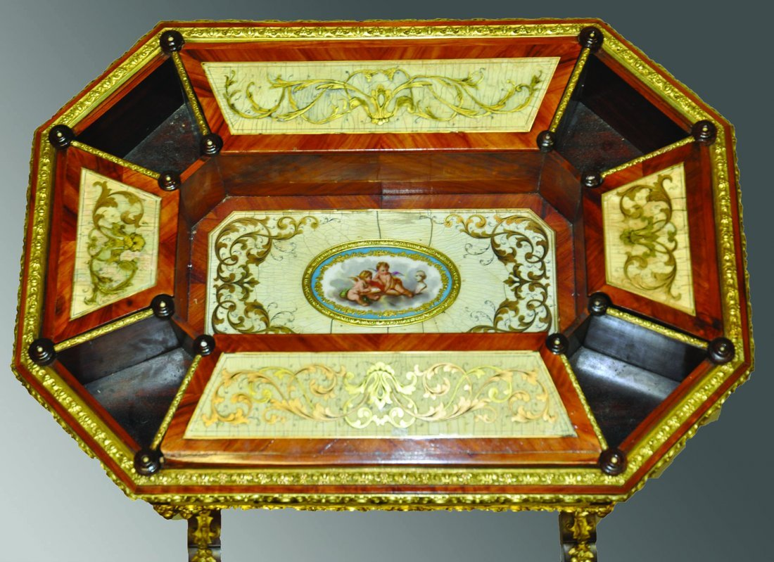 A SUPERB 19TH CENTURY CONTINENTAL BOULLE AND IVORY - 2