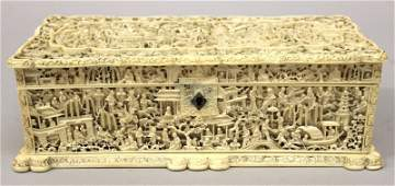 A FINE QUALITY 19TH CENTURY CHINESE CANTON IVORY