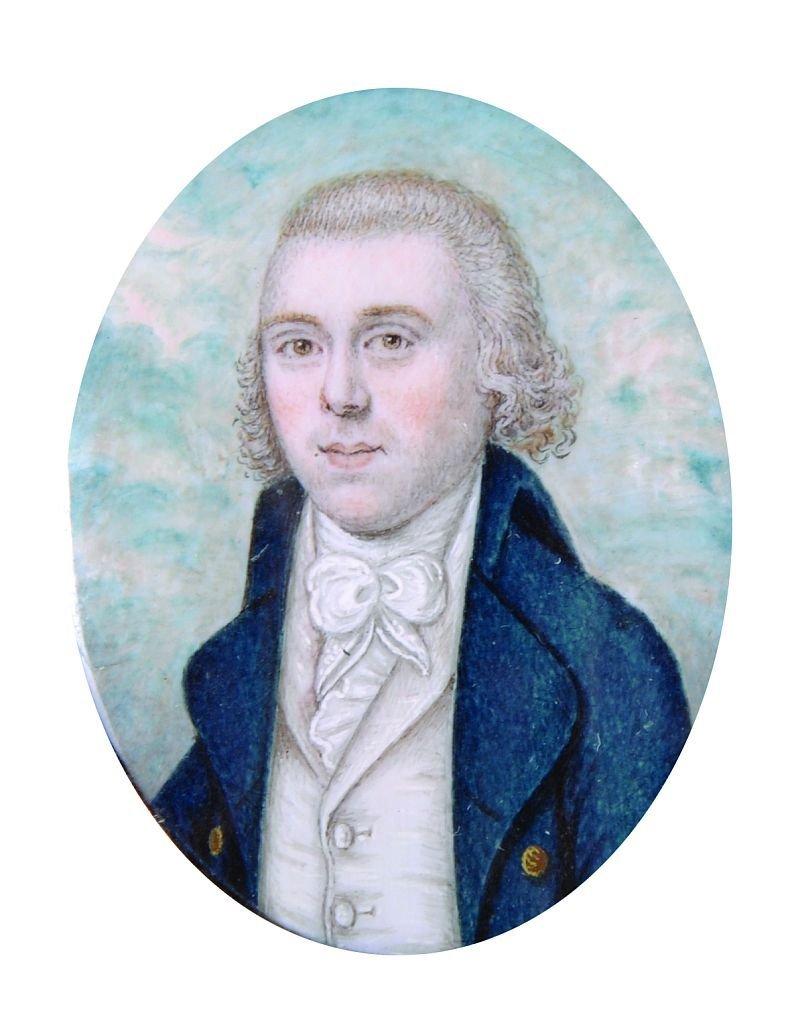 19th Century English School. Portrait of a Man, wearing