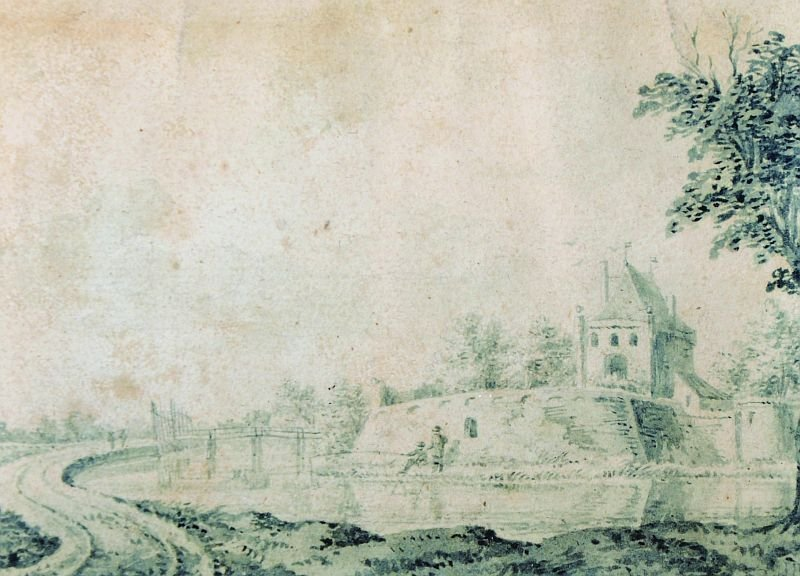 Dirck Van Burg Den (1723-1773) Dutch. A Dutch River