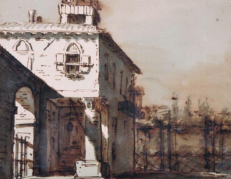 19th Century Italian School. An Italian Fortification,