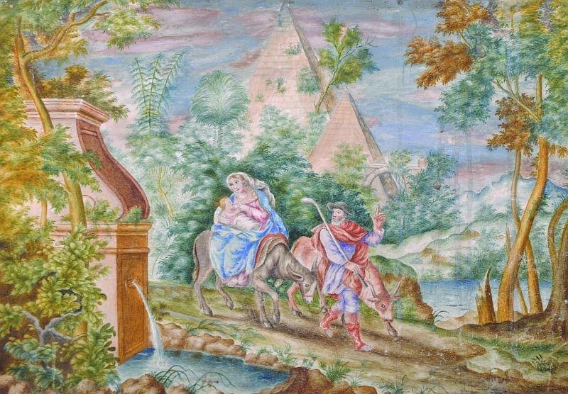 18th Century French School. The Flight into Egypt,