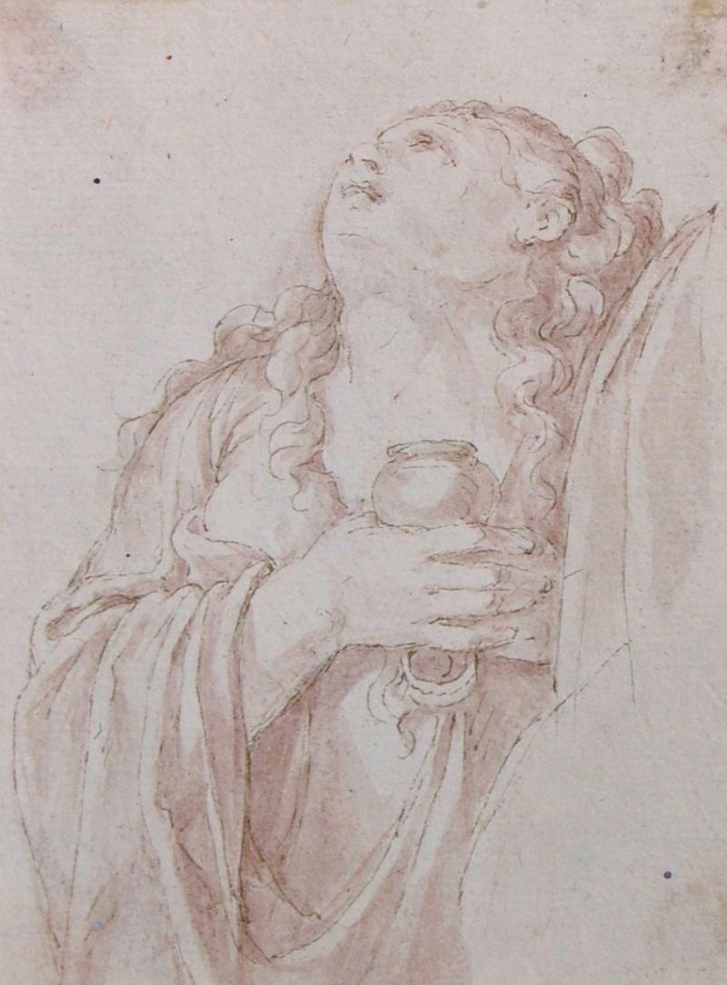 18th Century Italian School.  A Praying Saint,