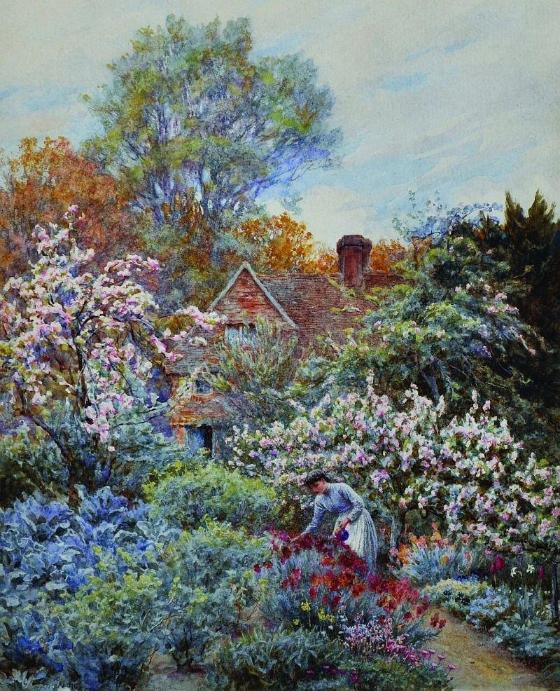 Helen Allingham (1848-1926) British. 'A Spring