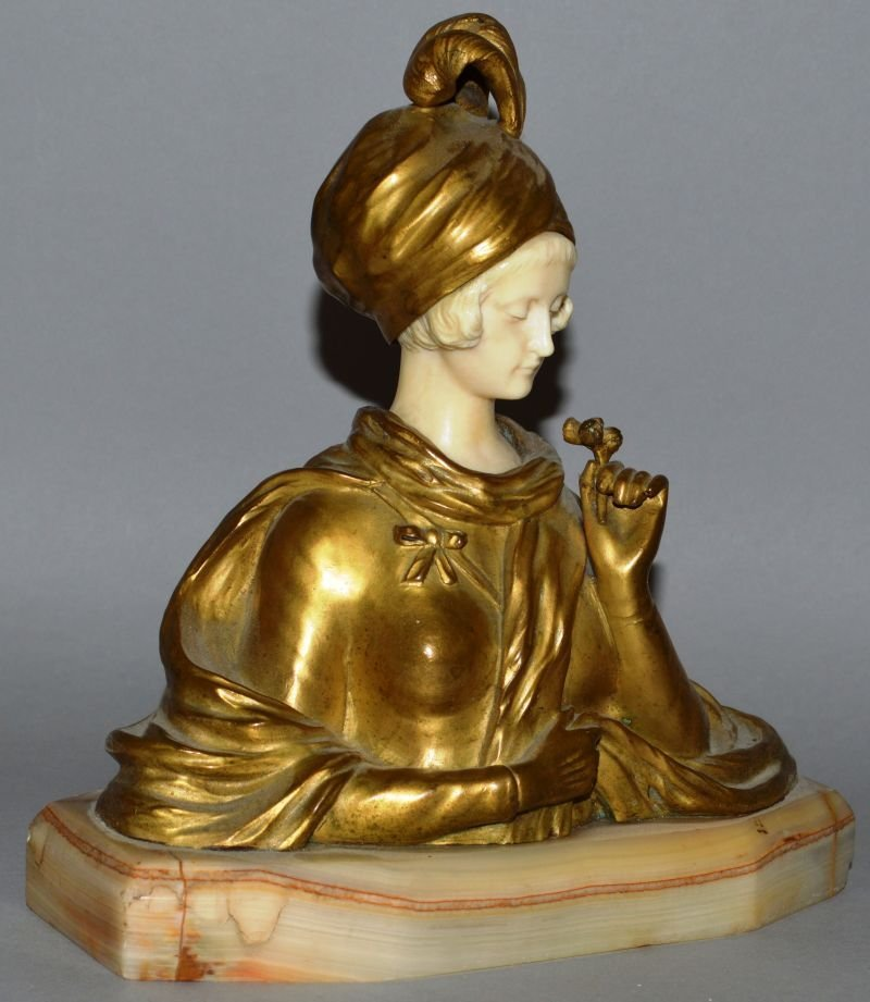 DOMINIQUE DE ALONZO (20TH CENTURY) FRENCH A GOOD GILT
