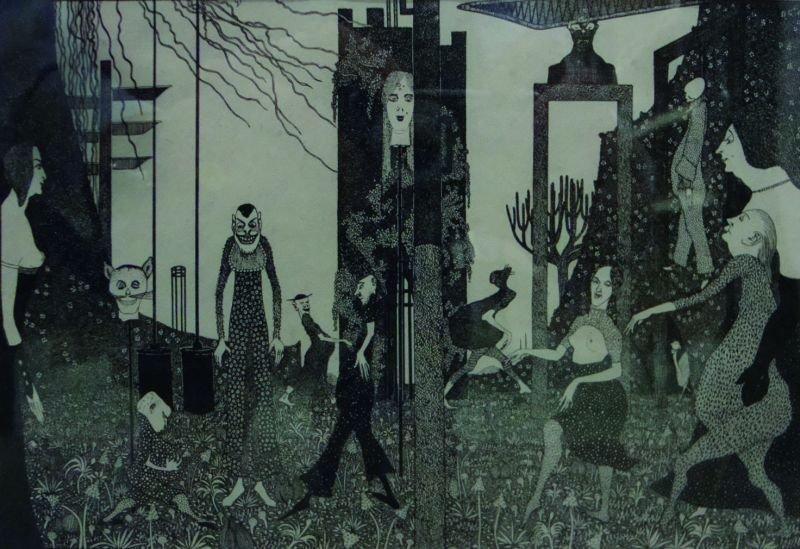 John Jack Vrieslander (1879-1957) German. A Surrealist