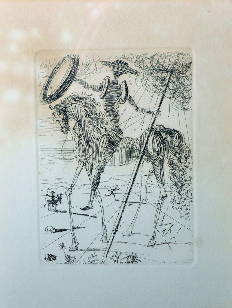 """Salvador Dali (1904-1989) Spanish. """"Don Quixote"""","""