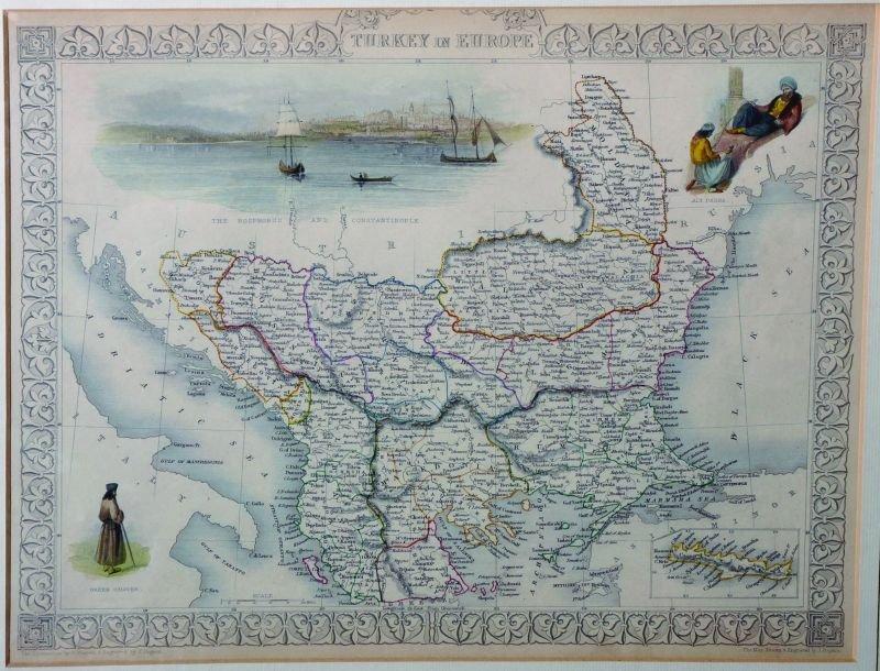 J… Rapkin (19th Century) British. 'Turkey in Europe',