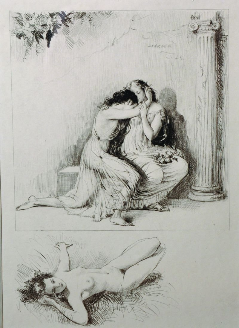 Paul-Emile Becat (1885-1960) French. Semi Naked