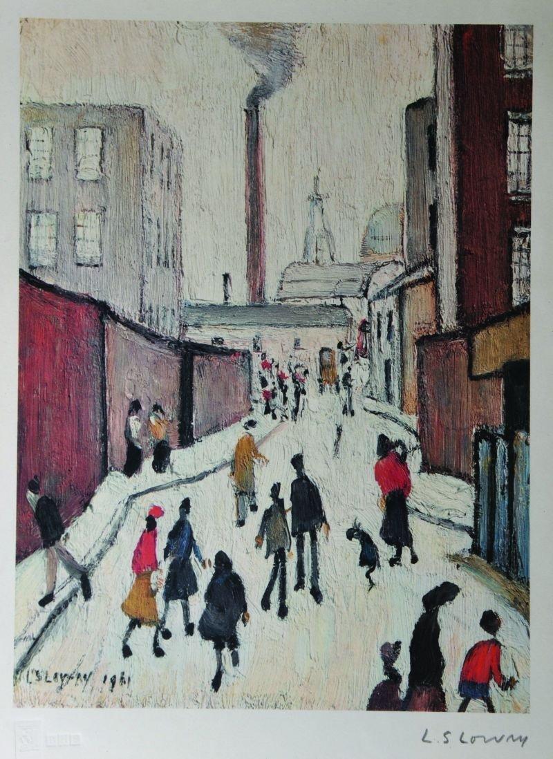 Lawrence Stephen Lowry (1887-1976) British. A Street