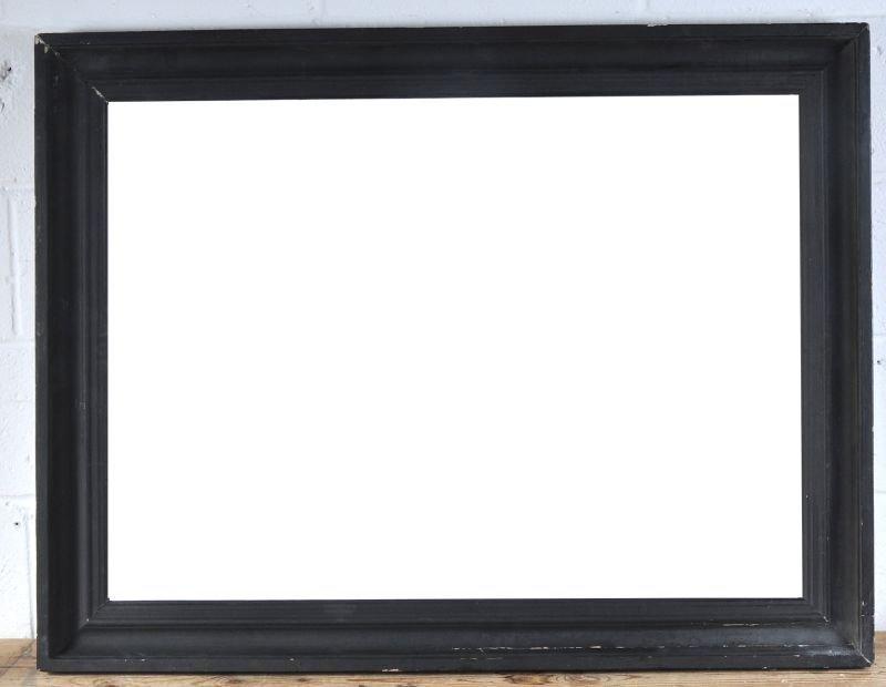 """19th English Century A Dutch Black Frame, 28"""" x 39""""."""