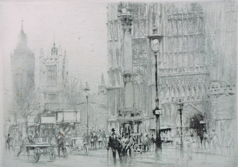 """William Walcot (1874-1943) British. """"Westminster"""", a"""