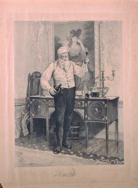 Walter Dendy Sadler (1854-1923) British. A Glass of