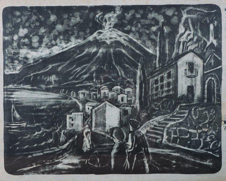 Theodor Kern (1900-1969) German. Figures in a Street, a