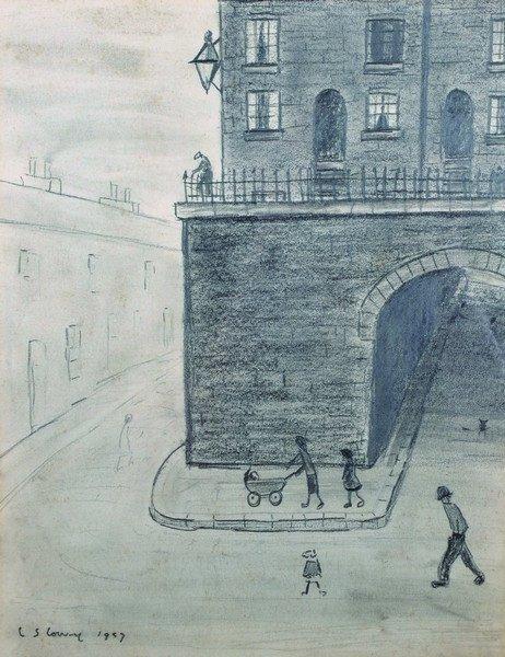 Laurence Stephen Lowry (1887-1976) British. A Street