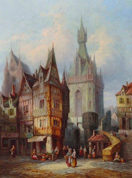 "Henry Thomas Schaefer (act.1873-1915) British. ""Fecamp,"
