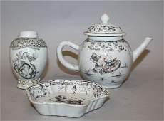 THREE 18TH CENTURY CHINESE EXPORT QIANLONG PERIOD