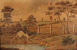 G C 19th Century British A Spaniel by the Waters