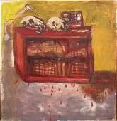 Marcelle Hanselaar (1945- ) British. Interior Scene,