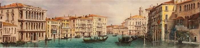 M. Romaro (20th Century) Italian. The Grand Canal,