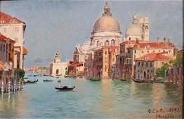 Giovanni Costa (19th Century) Italian. The Grand Canal,