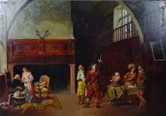 R W Warwick (19th Century) British. Interior Scene