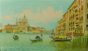 Alberto Travisant (1919-1978) Italian. The Grand Canal,