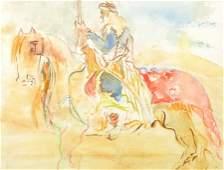 20th Century Continental School An Arab Warrior on