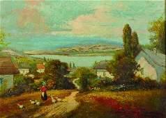 20th Century Hungarian School. A Mountainous River