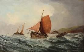 George Knight 19th Century British A Shipping Scene