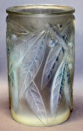 """Rene Lalique """"laurier Vase"""", No. 947, Circa"""