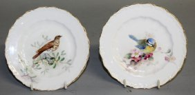 A Royal Worcester Pair Of Small Plates Painted With A