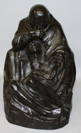 "After Kathe Kollwitz (1867-1945) German Bronze ""pieta"","