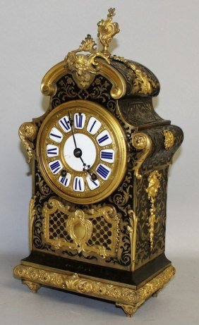 A Good French Boulle Cased Mantle Clock By Grohe A