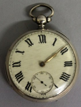 A Gentleman's Silver Cased Verge Pocket Watch By A