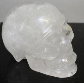 A Large Rock Crystal Skull. 12cms Wide.