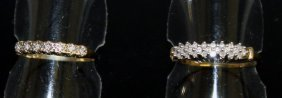 Two 18ct Gold And Diamond Rings.