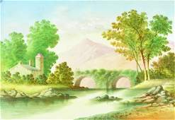 20th Century English School. A River Landscape, Oil on
