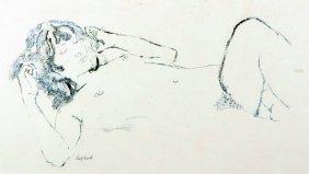 Sidney Horne Shepherd (1909-1993) British. A Reclining