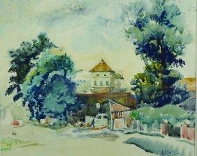 Matt Bruce (1915-2000) British. A French Landscape,