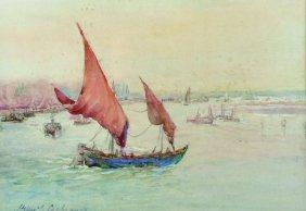Helen Lavinia Cochrane (1868-1946) British. A River