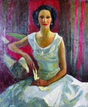 Charles James Mccall (1907-1989) British. 'mrs Carver
