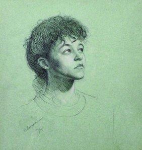 Timothy Rukavina (1954- ) British. Head Study Of A