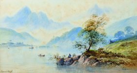 Edwin Earp (1851-1945) British. A Mountainous River